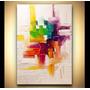 Quadro Abstrato Cod 2016 140m (l) X 100cm (a)-tela Enrolada