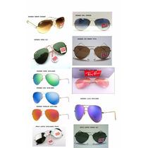 Óculos De Sol Aviador 3025 (m) 3026 (g) Unissex 400uv Prot