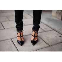 Sapato Valentino Preto Couro