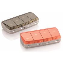 Porta Comprimido Diário C/ 4 Compartimentos Pil Box Daily