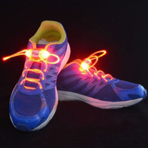 Cadarço Led Style Vermelho Luminoso Neon Para Tênis (par)