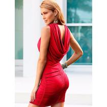 Vestido Transpassado Costas Rolê Vermelho