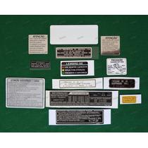 Adesivos Advertência Honda Cbx 750 89 Originais Grená