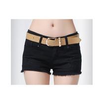 Shorts Jeans Casual Desfiado Pronta Entrega