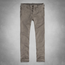 Calça A & F Leves Taper Chinos Original
