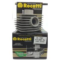 Cilindro Motor 75cc Mobilete Rocatti Com Cabeçote