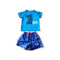 Shorts + Camiseta Praia Carters Tam 6-9m Meninos,enxoval Mar