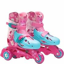 Patins Barbie 3 Rodas C/ Acessórios (29 A 32) Bb0581 Mattel