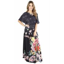 Vestido Longo Estampado Adriana Barra Para C&a