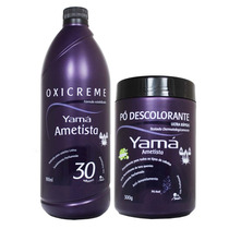 Kit Yama Ametista Pó Descolorante 300g + Ox 30 Vol 900ml
