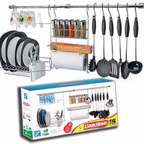 Novo Kit Cook Home C/23 Pç Porta Papel Escorredor Prato Copo