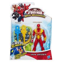 Boneco Spider Lança Teias 14 Cm Web Warriors - Hasbro