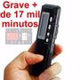 Gravador De Áudio Voz Digital R-70 8gb Escuta Telefônica Mp3