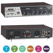 Receiver Amplificador Som Ambiente Frahm Slim 3000 Usb Sd Fm