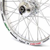 Friso Adesivo Refletivo Roda Moto Gp 4 Yamaha Factor 125 150