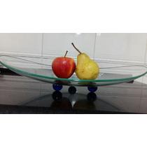 Saladeira / Fruteira Em Vidro Curvo . Exclusivo!!!