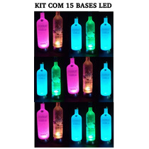 Kit 15 Bases De Led Garrafa Que Pisca Absolut, Smirnoff