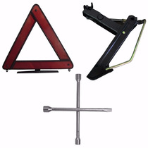 Macaco Joelho + Chave Roda Cruz + Triangulo De Segurança