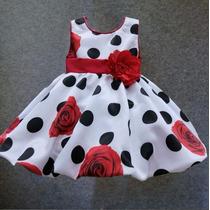Vestido Infantil De Festa Importado Tamanho 2 A 4 Anos