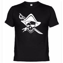 Camisetas Engraçadas Caveira Pirata 460