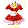 Vestido Caipira Com Bermuda Infantil Festa Junina