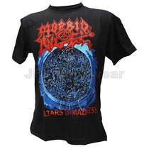 Camisa De Manga Curta Rock Banda Morbid Angel Altars