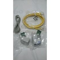 10 Kits Com Filtro De Linha Telefônica E Cabos