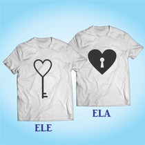 Kit 2 Camisas Namorados - Casal - Paquera - Amor - Modelo 3