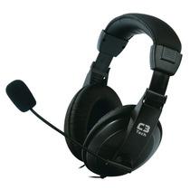 Fone De Ouvido Com Microfone Stereo Voicer Confort C3tech