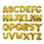 Balão Letras Dourada E Número Balão Metalizado + Frete 10,00