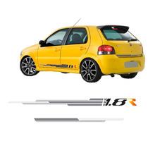 Jgo Faixa Adesivo Lateral Fiat Palio 2008 A 2010 1.8r G4