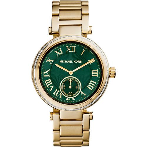 58e55b502d999 Relógio Michael Kors Mk6065 Orig Chron Anal Ouro swarovski!