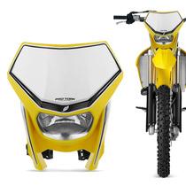 Farol Carenagem Universal Off Road Pro Tork Amarelo Moto