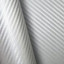 Adesivo Envelopamento Fibra Carbono Prata Teto Ou Capo 2x122