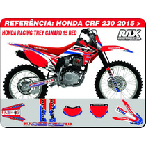 Adesivos-crf 230 2015 -honda Racing Red - Qualidade 3m