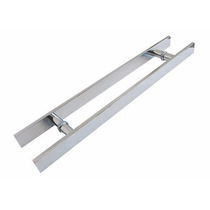 Puxador Duplo Alumínio 60 Cm Porta Pivotante Madeira/vidro