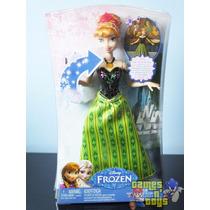 Boneca Anna Frozen Musical Mattel Tenho Elsa Disney