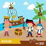 Kit Scrapbook Digital Jake Piratas Da Terra Imagens Clipart
