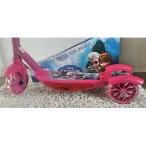 Patinete Infantil Musical Frozen 3 Rodas C/ Luzes,cesta Top