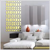 Espelho Acrílico Adesivos De Parede Design Moderno 3d Ouro
