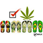 Chinelos Erva, Marijuana, 4:20, Hemp, Maconha, 4 E 20, 420
