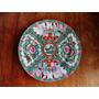 Antigo Prato Porcelana Chinesa Pintada À Mão - Mandarim