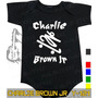 Body Charlie Brown Jr Preto Infantil Bebê Rock Metallica