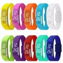 5 Pulseira Silicone Relógio Led Digital Sport Bracelete
