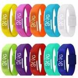 Kit-10-Pulseira-Silicone-Relogio-Led-Digital-Sport-Bracelete