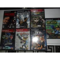 Lote De 7 Jogos Originais E Lacrados Para Playstation 2