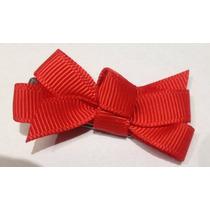 Kit C/10 Laços De Fita-gorgurão Mini Vermelho -1,00cmx2,5cm