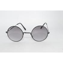 Óculos Em Alta Lentes Redondas Estilo Beatles Preto A57