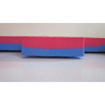 Tatame Oficial 50x50x20 Bicolor Azul / Vermelho 12 Peças