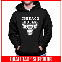 Moletom Chicago Bulls Masculino E Feminino Blusa Canguru